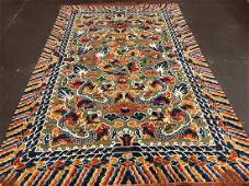 Silk and Metal Chinese Rug 9.2x6