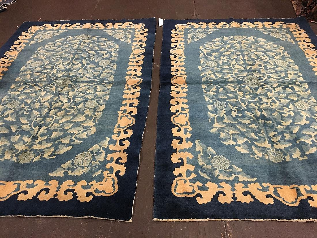 Chinese Floral Rug 7.9x5.6