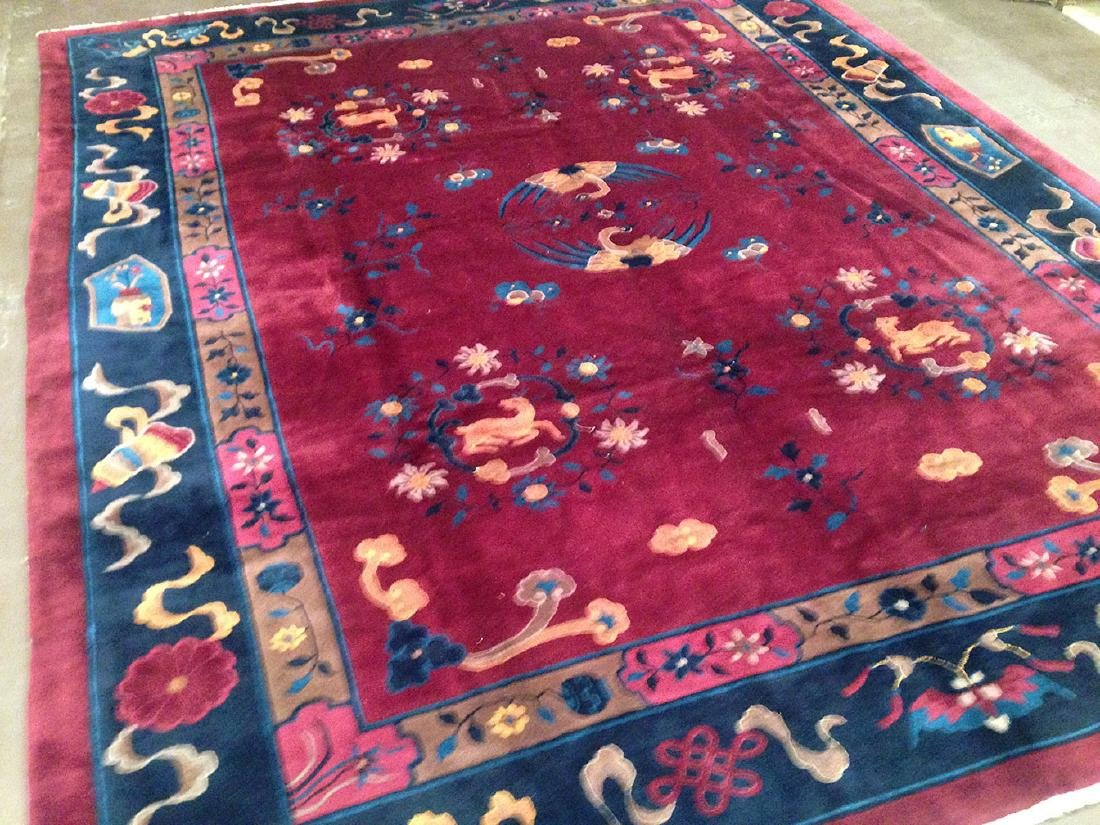 Early 20th Century Fette Chinese Carpet 11.7x9.4