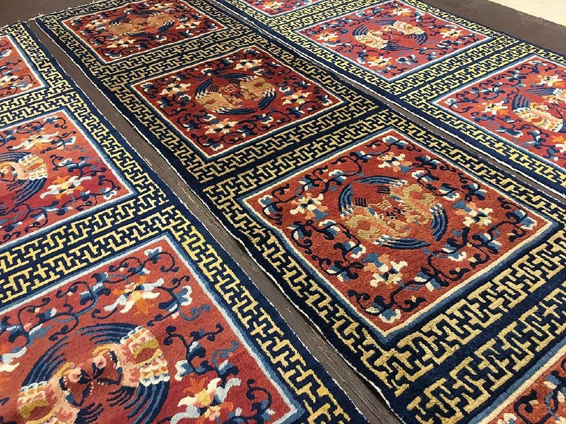 3 Tibetan Ninghsia Runner Rugs 10x2.6 - 4