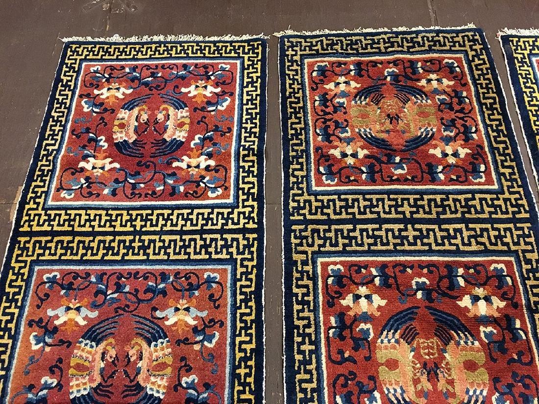 3 Tibetan Ninghsia Runner Rugs 10x2.6 - 5