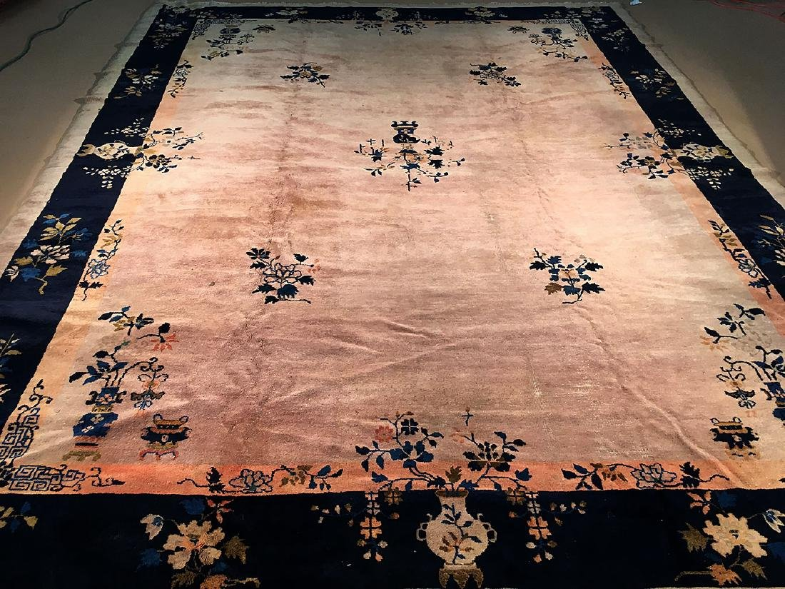 Early 20th Century Chinese Carpet 13.9x10