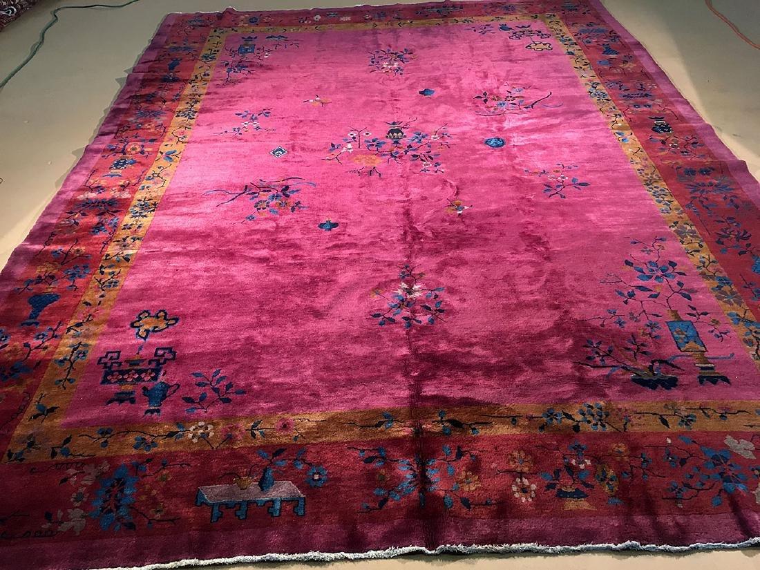 Early 20th Century Nichols Chinese Carpet 13x9.11