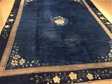 Early 20th Century Peking Chinese Carpet 11.3x8.10
