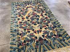 Late 19th Century Silk and Metal Chinese Rug 8.1x5