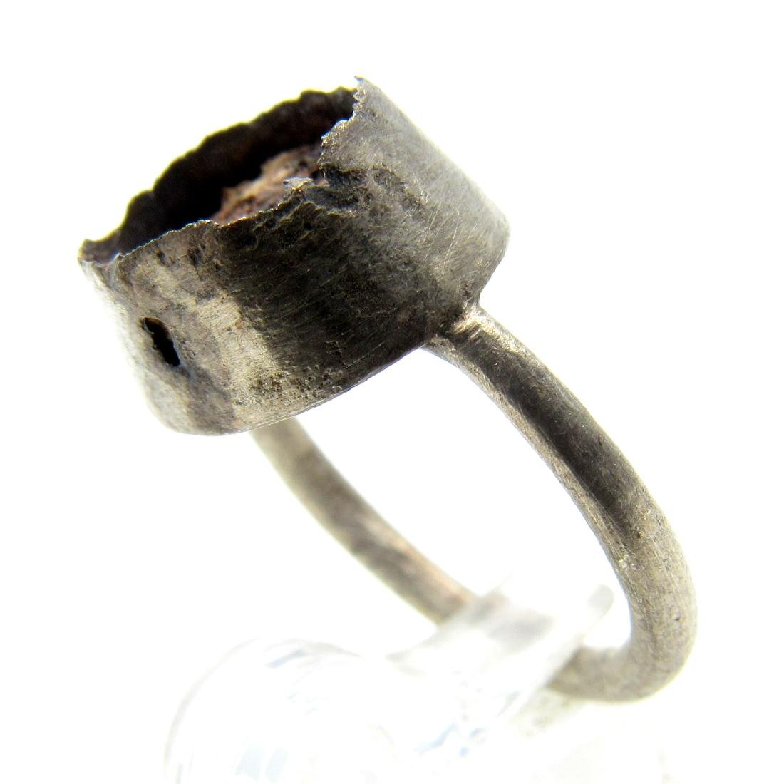 Medieval Silver Ring with Enamel - 2