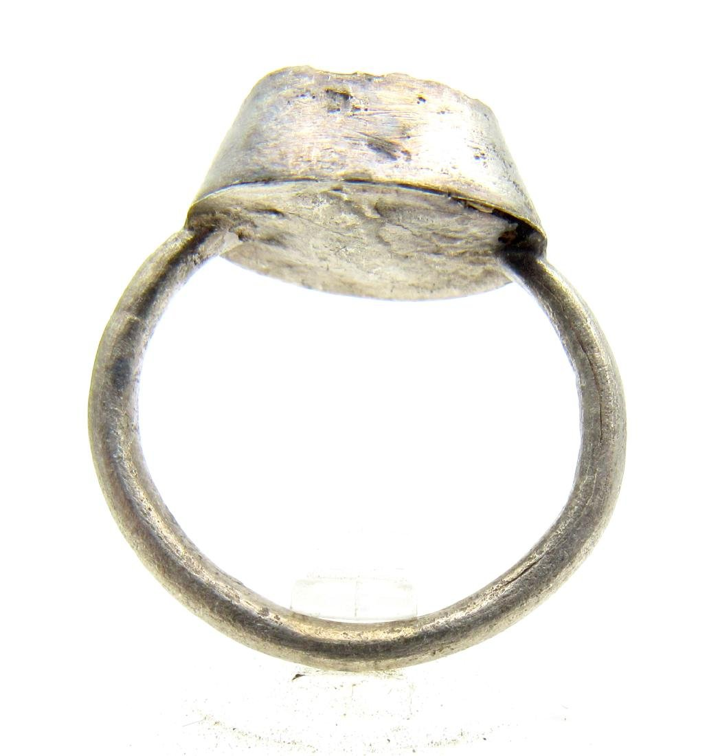 Medieval Silver Ring with Enamel - 3