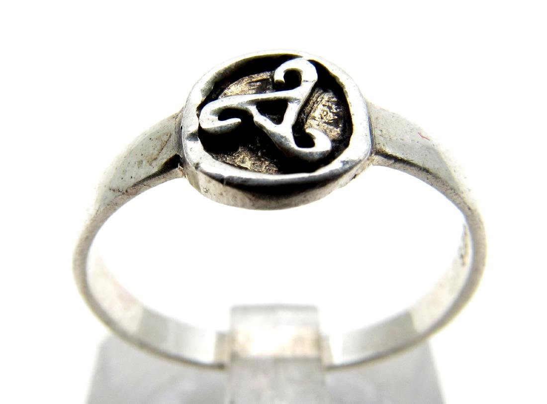 Modern 925 Silver Ring with Triskele