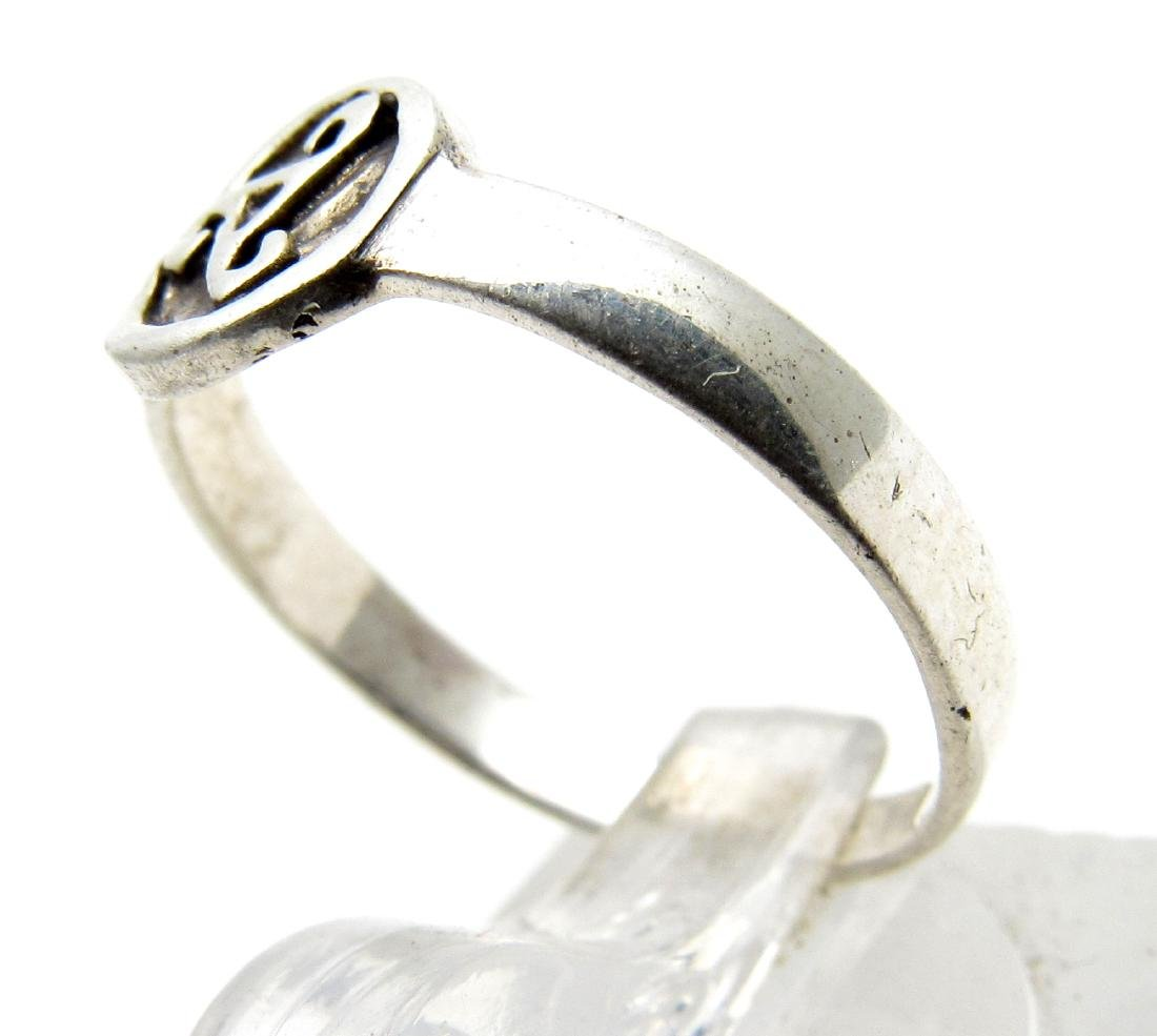Modern 925 Silver Ring with Triskele - 2