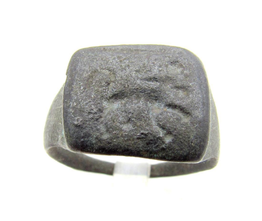 Ancient Roman Ring with Centaur on Bezel