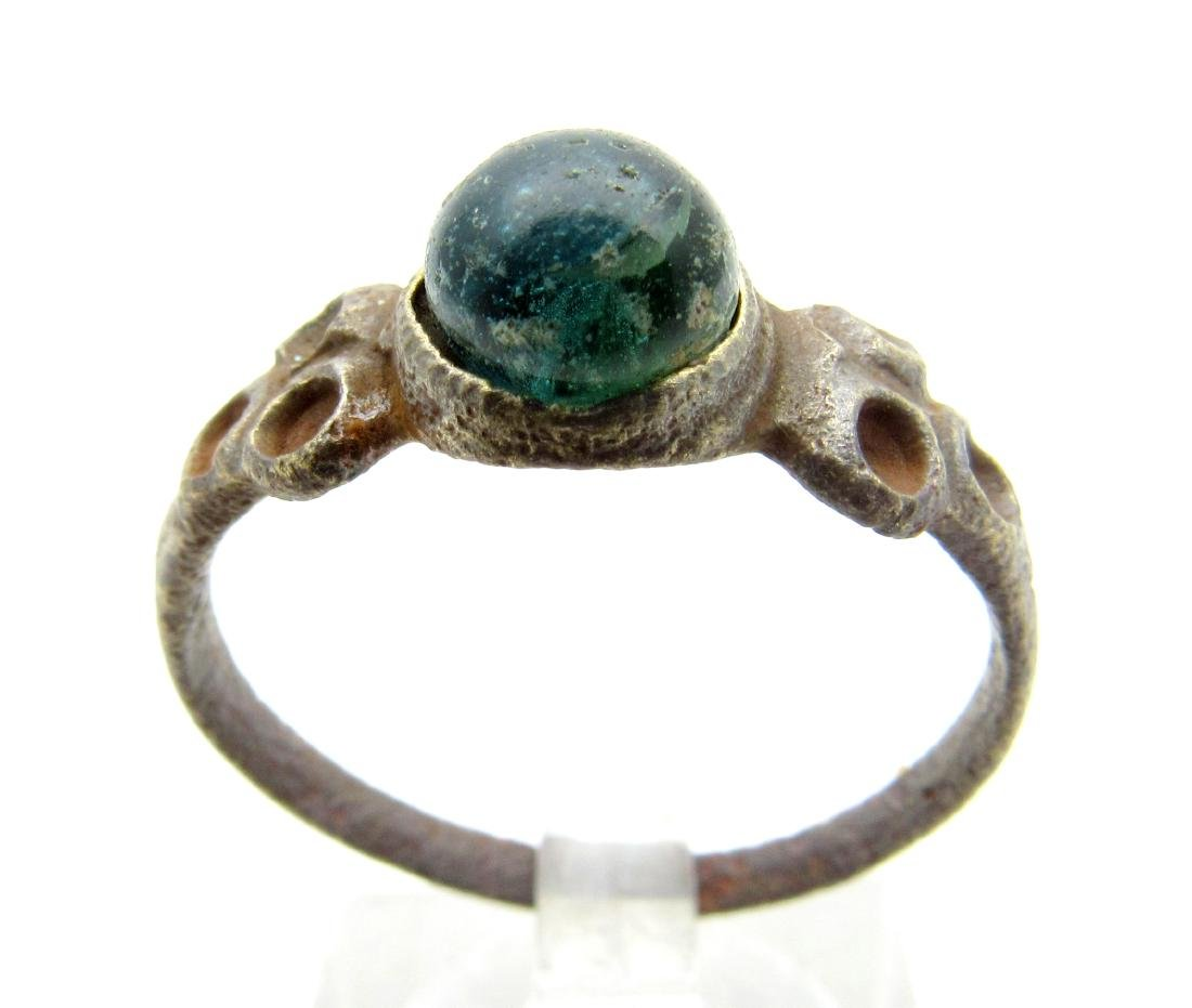 Late Medieval Ring with Green Stone