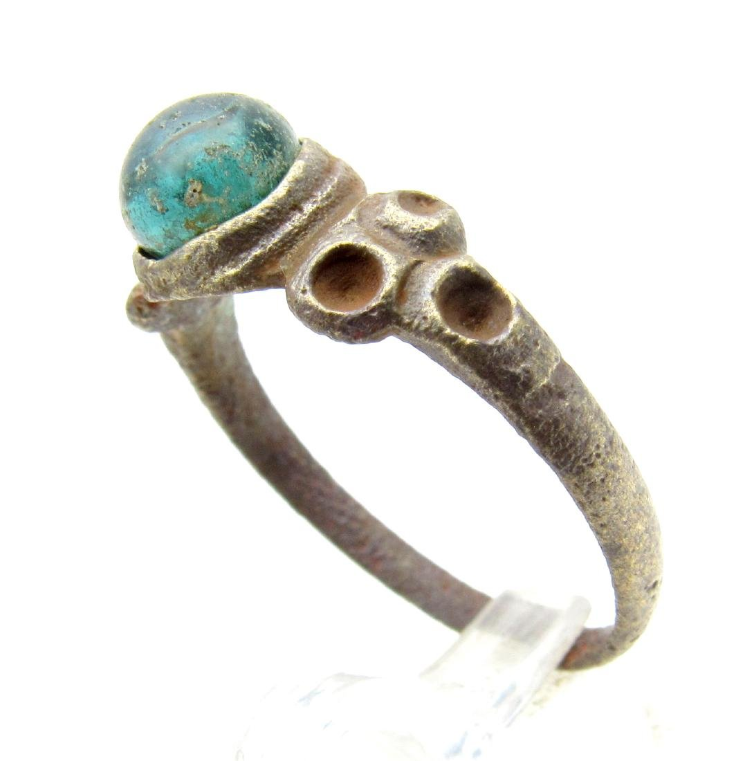 Late Medieval Ring with Green Stone - 2