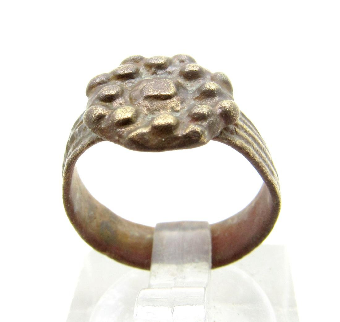Late Medieval Tudor Ring with Crown Bezel