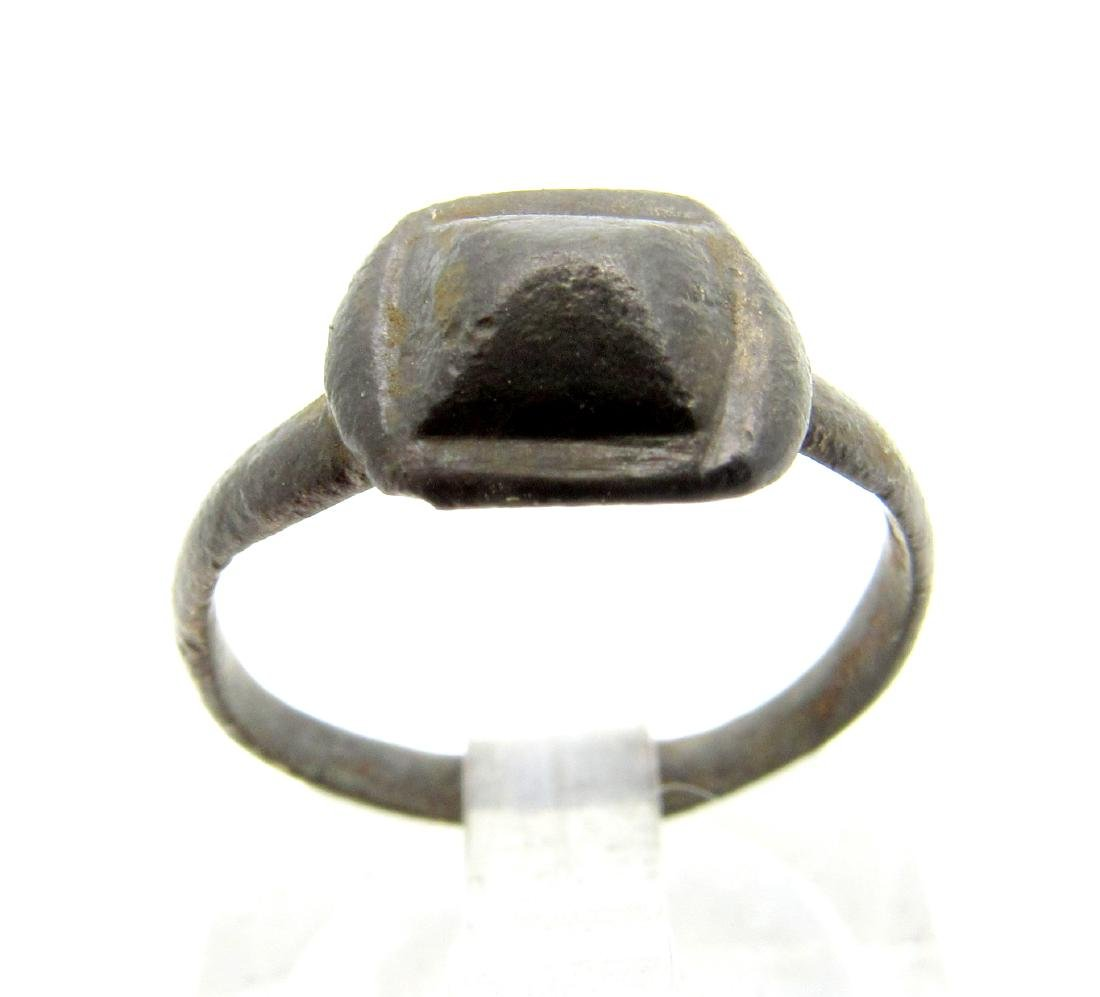 Ancient Roman Ring with Pyramid Shaped Bezel