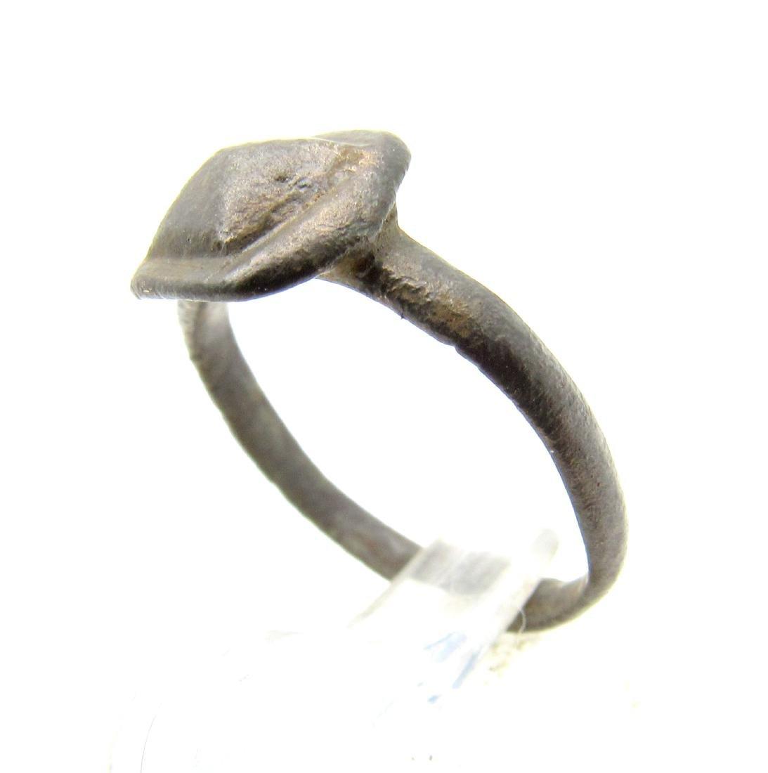 Ancient Roman Ring with Pyramid Shaped Bezel - 2