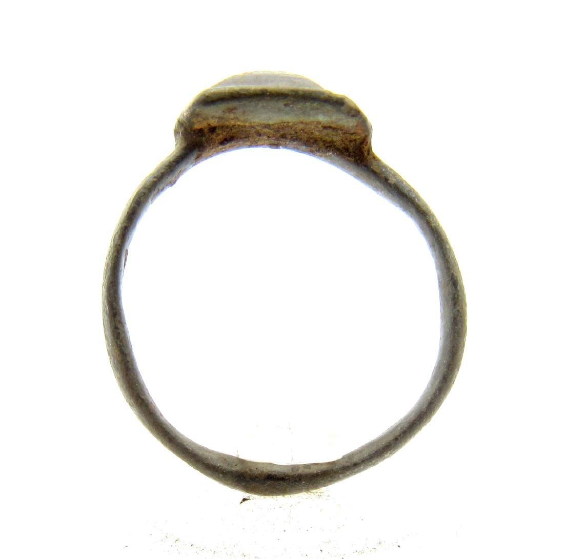 Ancient Roman Ring with Pyramid Shaped Bezel - 3