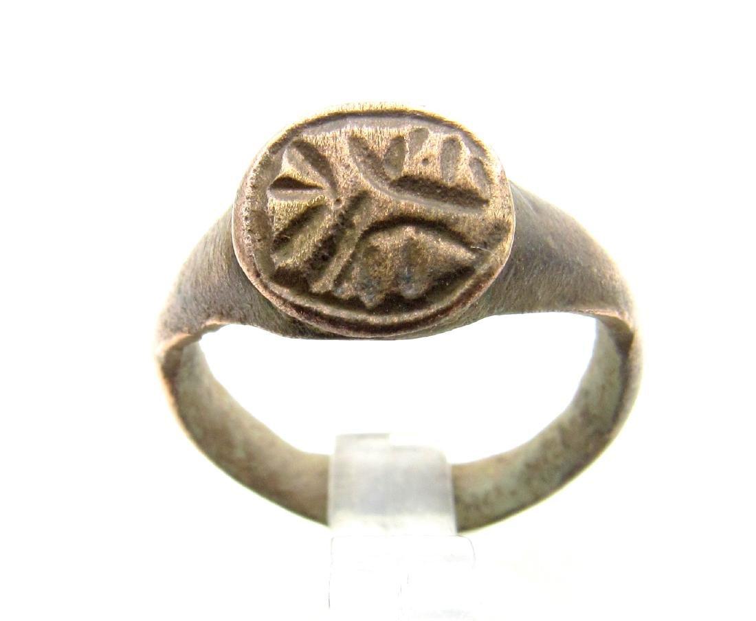 Medieval Viking Bronze Runic Ring
