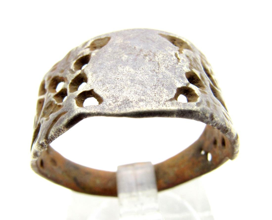 Post Medieval Open-Work Decorated Ring