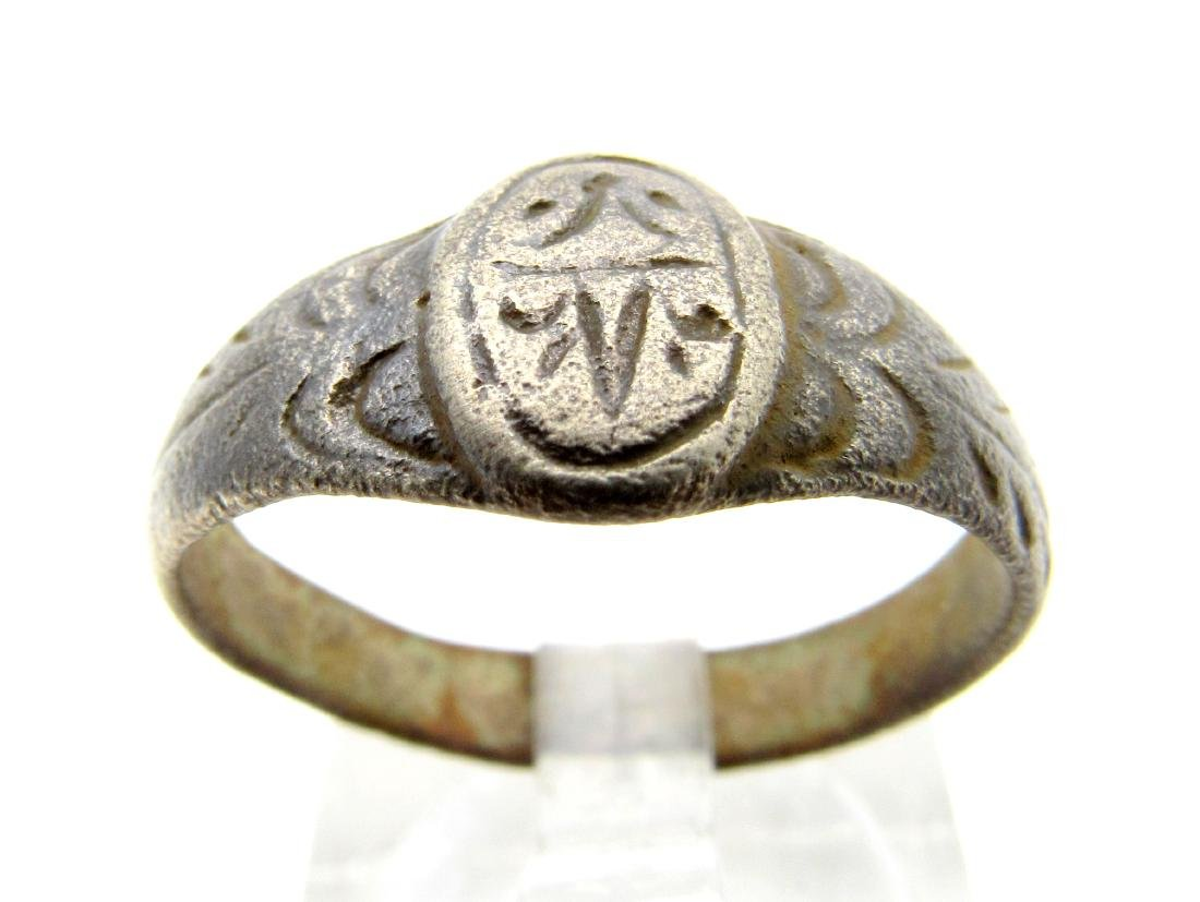 Late Medieval Tudor Decorated Bronze Ring
