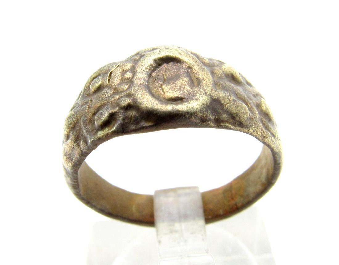Late Medieval Tudor Bronze Floral Ring