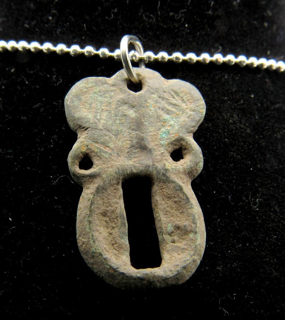 Medieval Bronze Open-Work Pendant