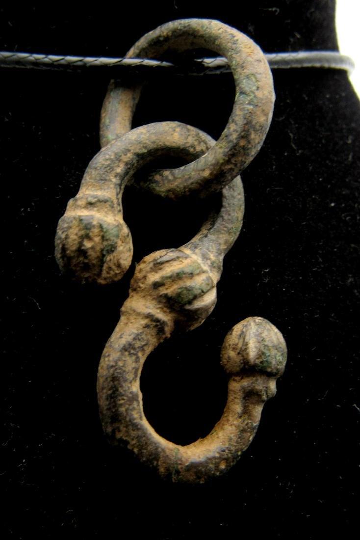 Medieval Viking Bronze Dragon Fafnir Pendant with Ring
