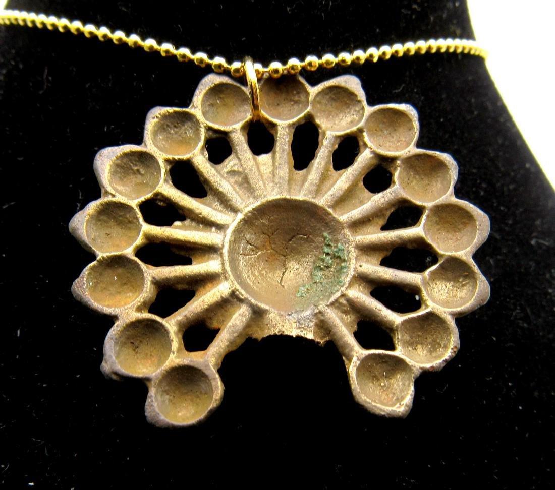 Medieval Viking Floral Open-Work Ladies Pendant - 2
