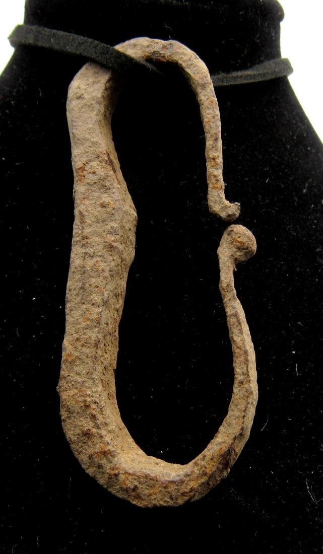 Ancient Roman Iron Firestarter Pendant