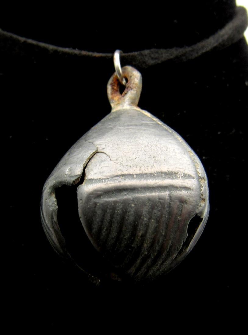 Medieval Bronze Bell Pendant - 2