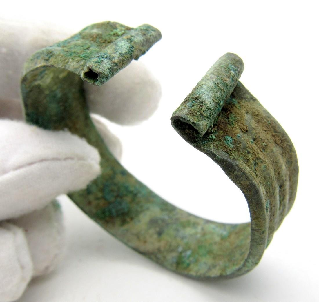Medieval Viking Bronze Bracelet with Coils - 3