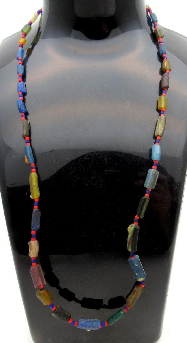 Ancient Viking Era Glass Necklace with 33 Beads