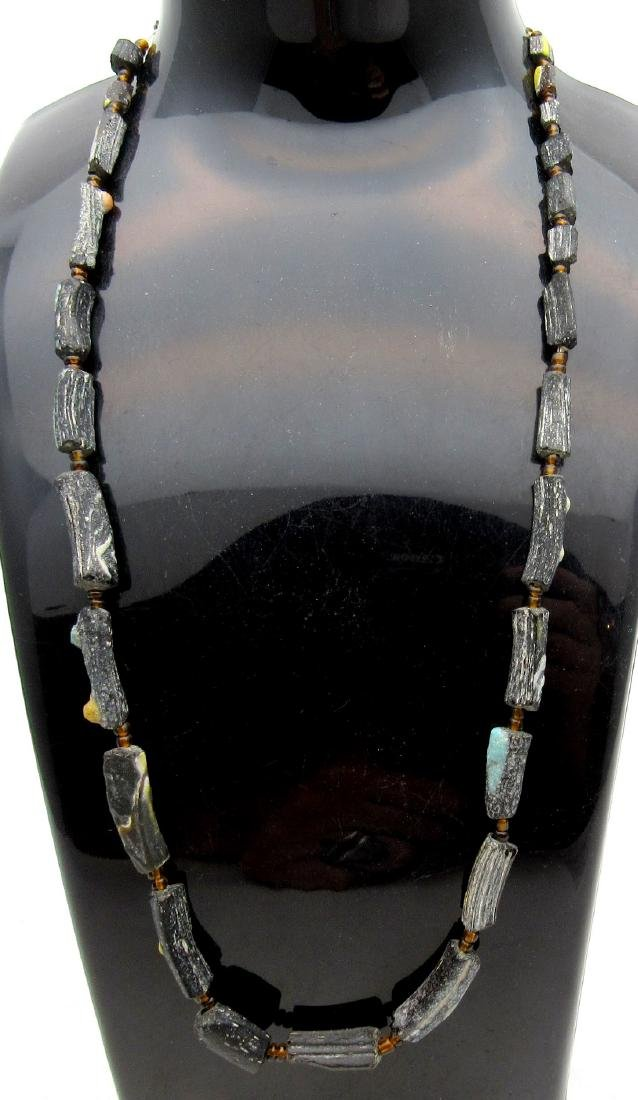 Ancient Viking Era Glass Necklace with 28 Beads