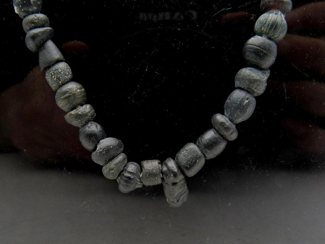 Ancient Roman Stone Necklace with 100+ Beads - 2