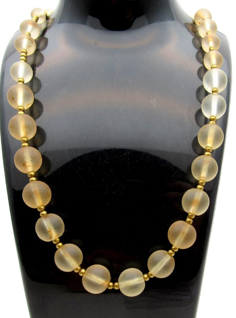 Medieval Venetian Renaissance Glass Necklace 30 Beads
