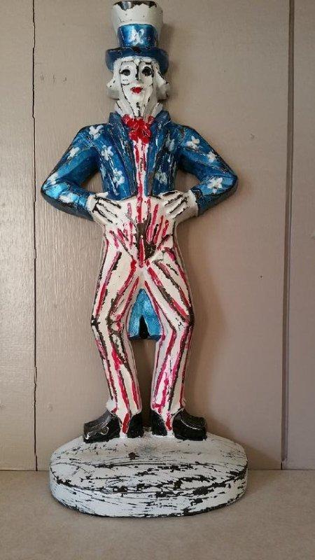 Cast Iron Uncle Sam Doorstop