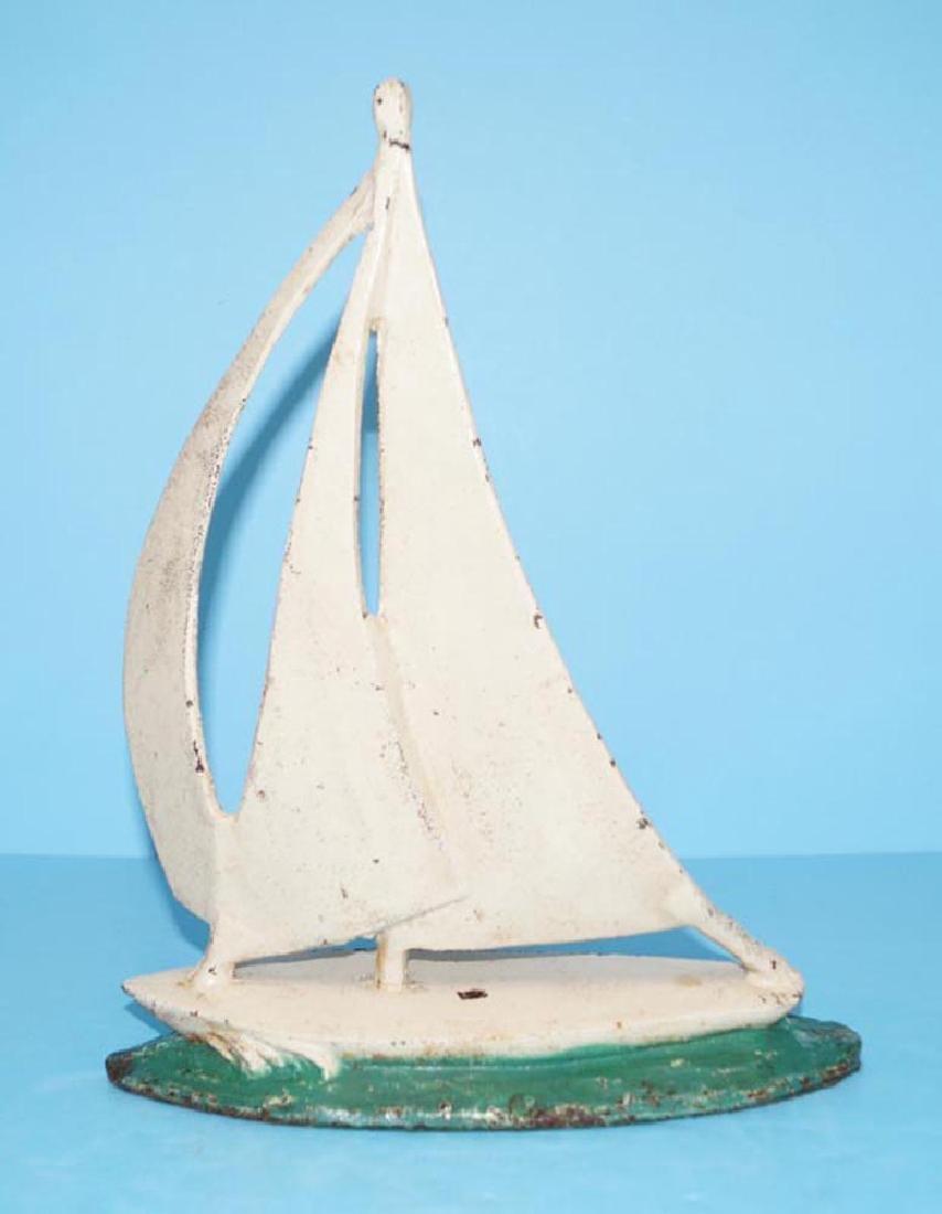 Antique Sailboat Doorstop - 3