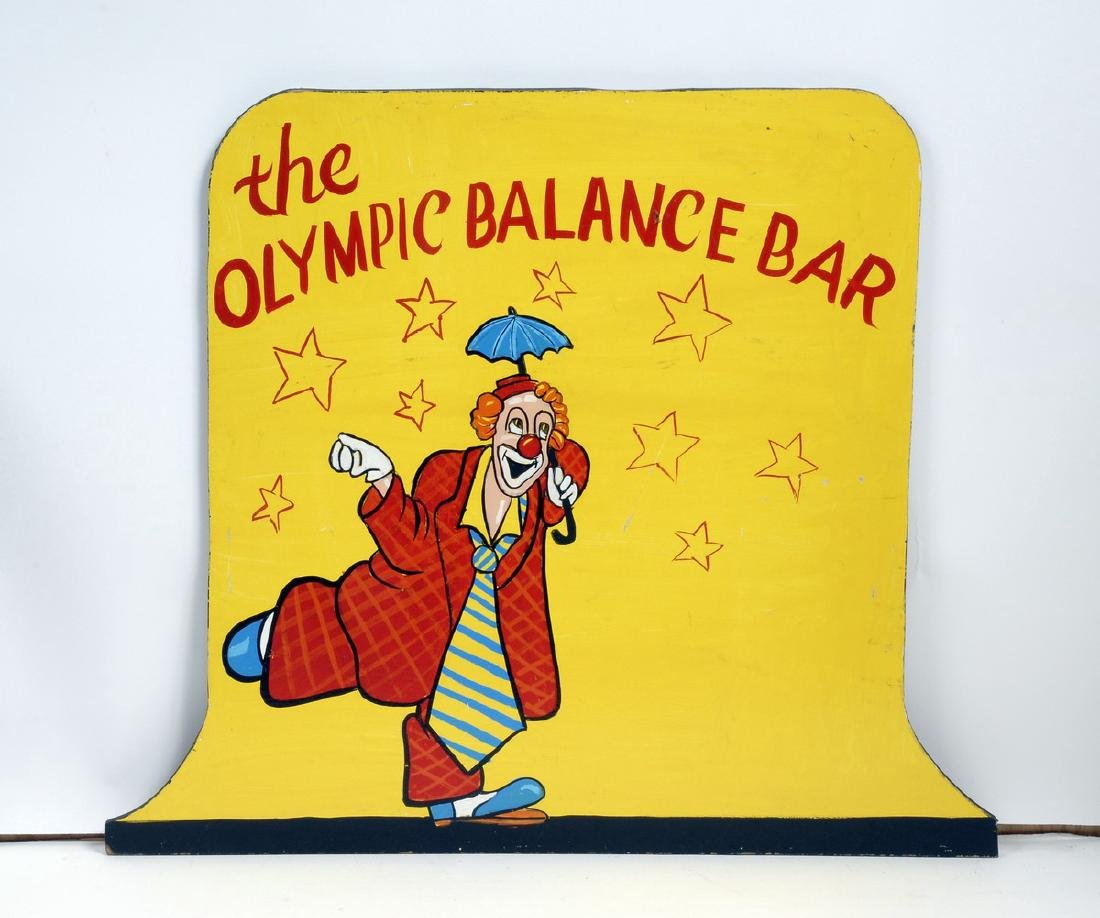 Carnival Sign 'The Olympic Balance Bar'