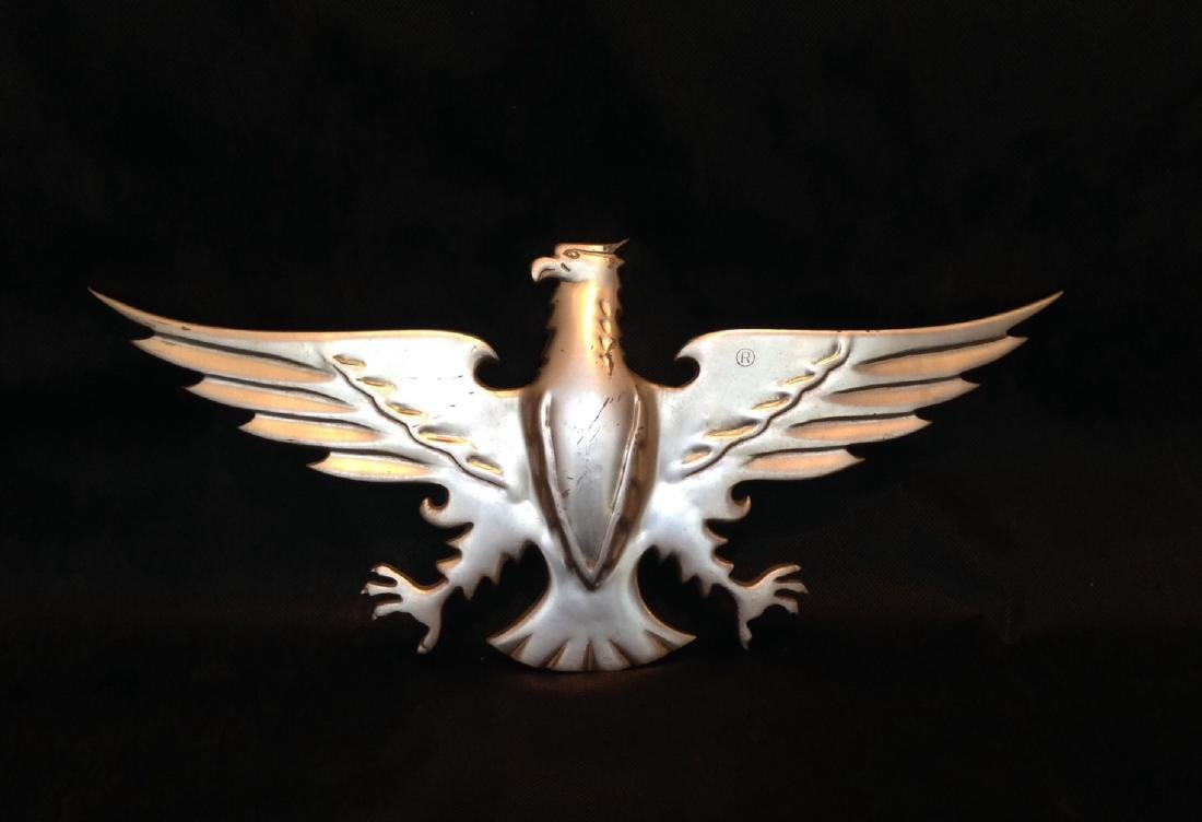 Cast Aluminum Eagle Plaque Mid 20th Century