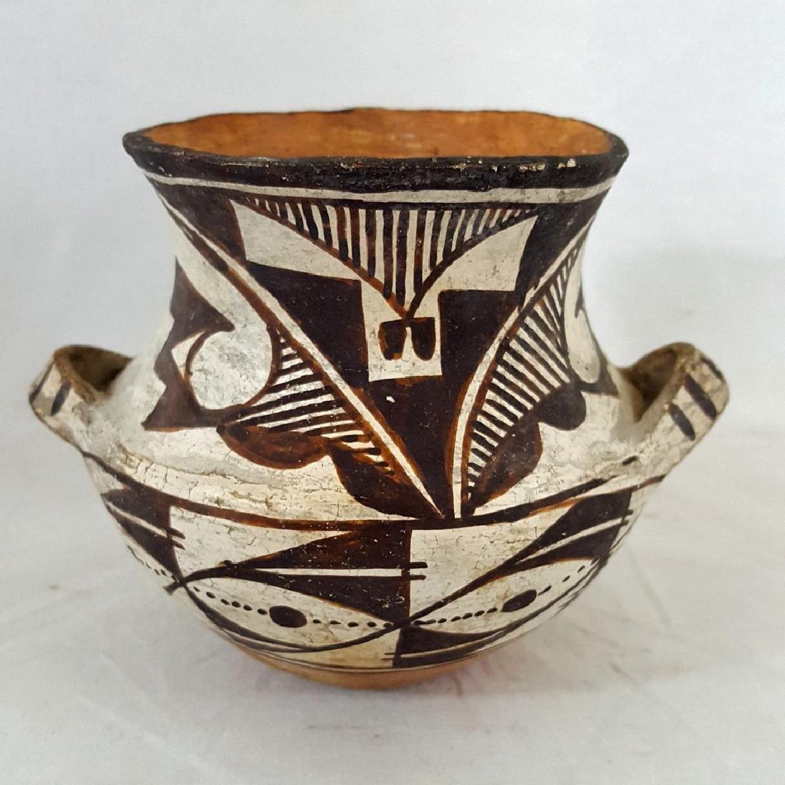 Small Acoma Pueblo Handled Pottery Vase Ca 1915-1925