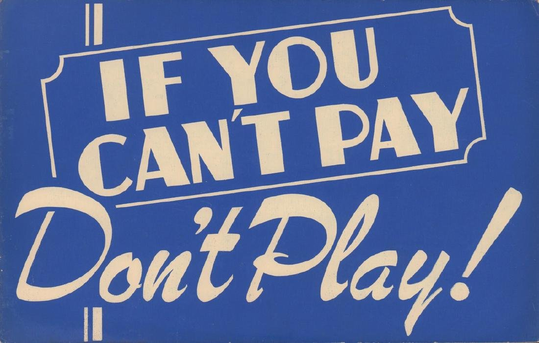If You Can't Pay Card