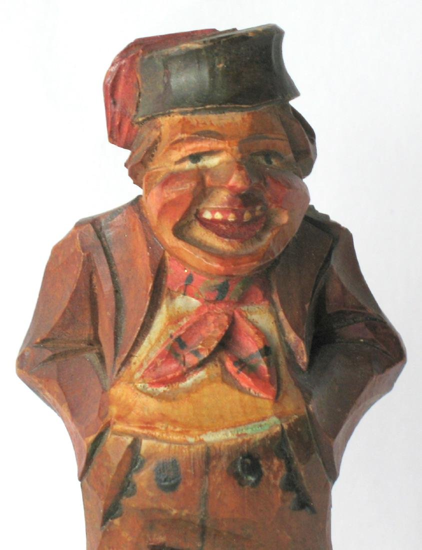 Whimsical Vintage Folk Art Carving of an Old Gentleman - 2