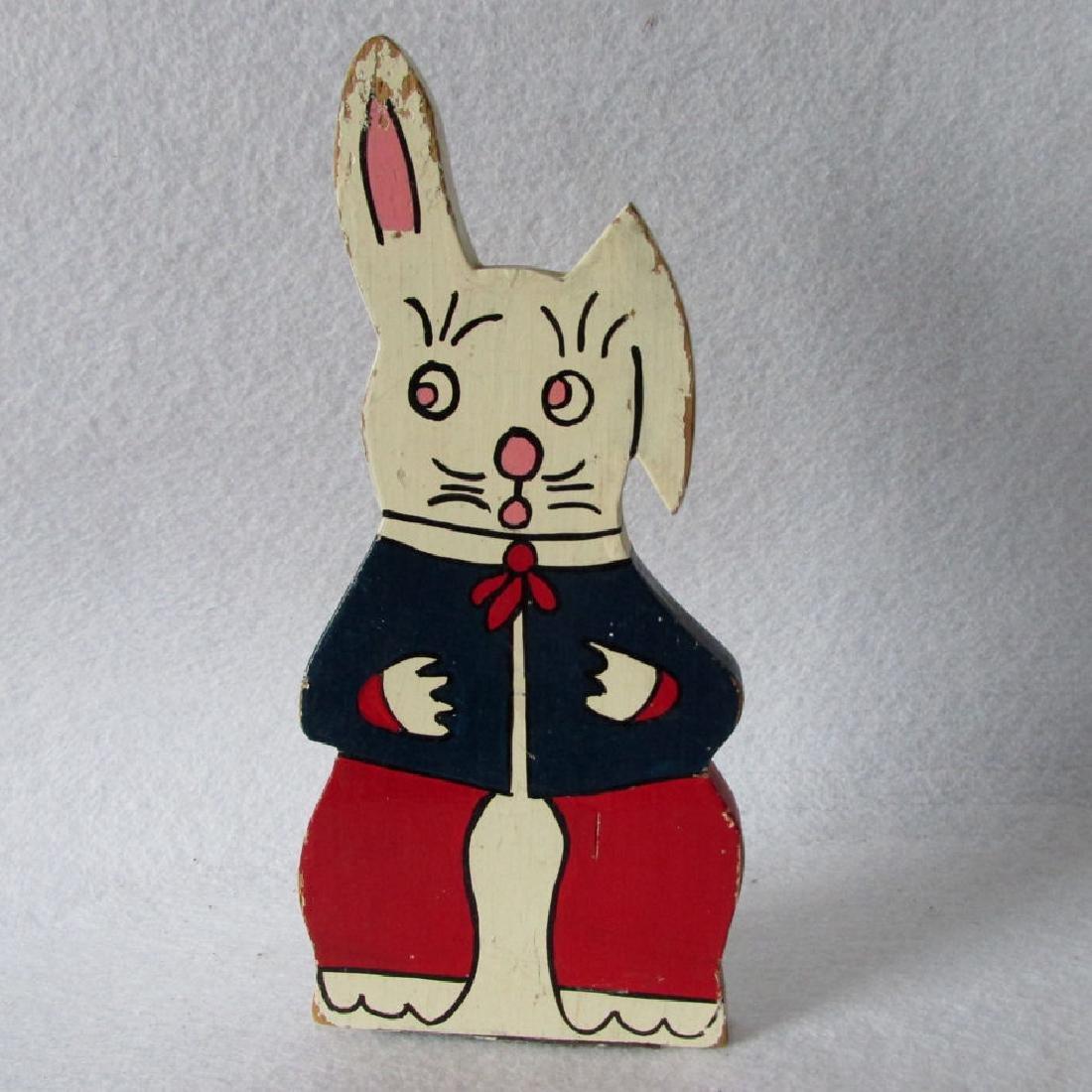 c1930's Folk Art Rabbit Doorstop in Original Paint