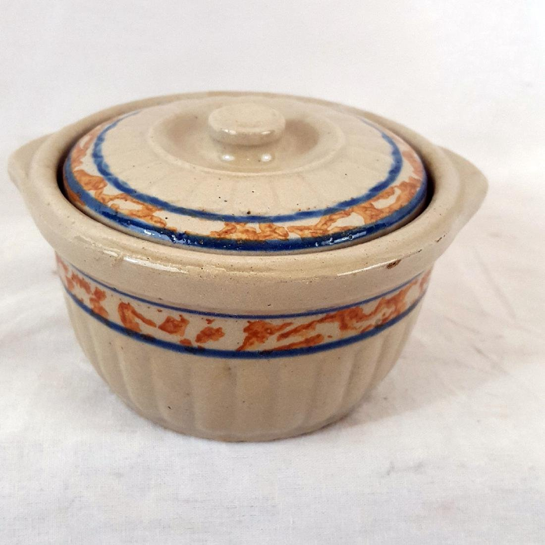 Unsigned Red Wing Pottery Covered Ramikin Ca 1930's