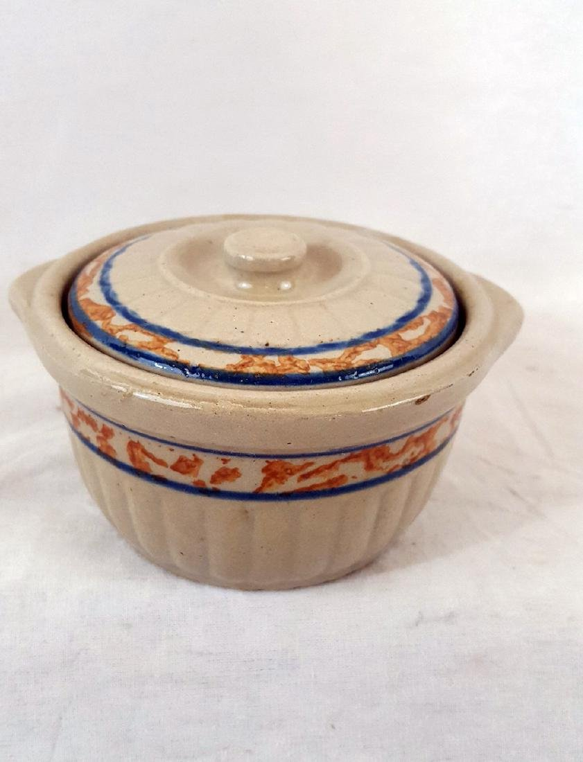 Unsigned Red Wing Pottery Covered Ramikin Ca 1930's - 2