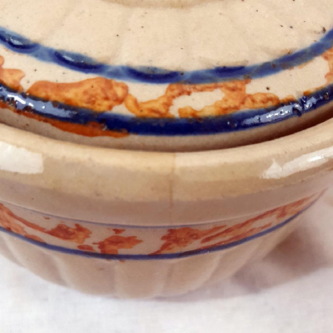 Unsigned Red Wing Pottery Covered Ramikin Ca 1930's - 6