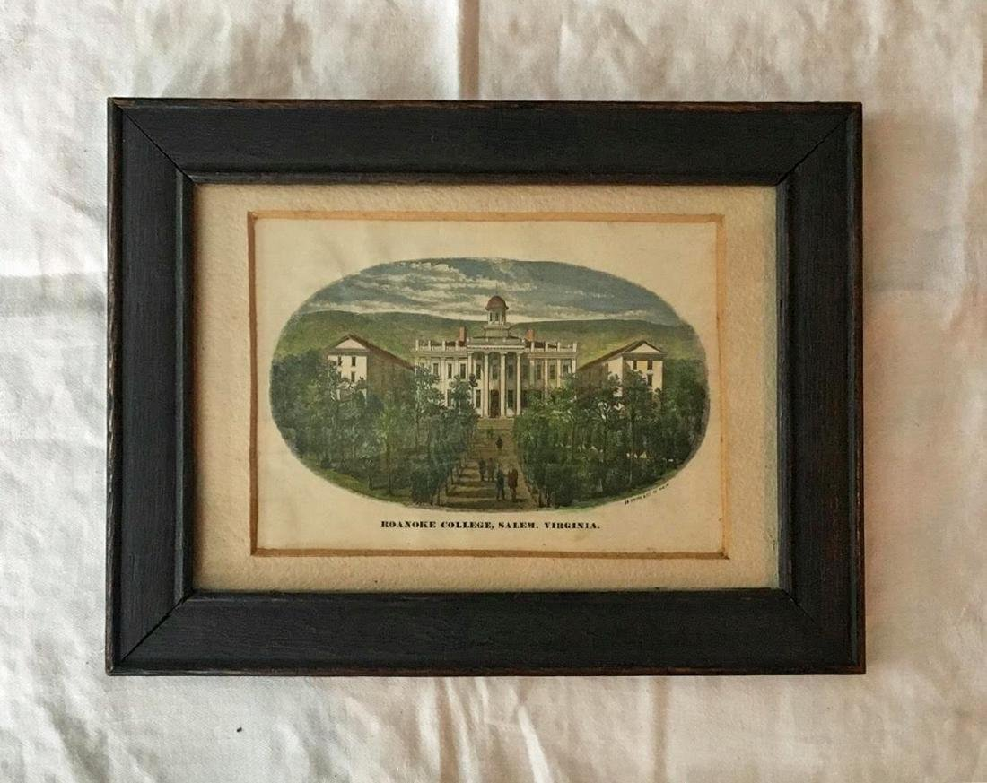 19th Hand Colored Print of Roanoke College