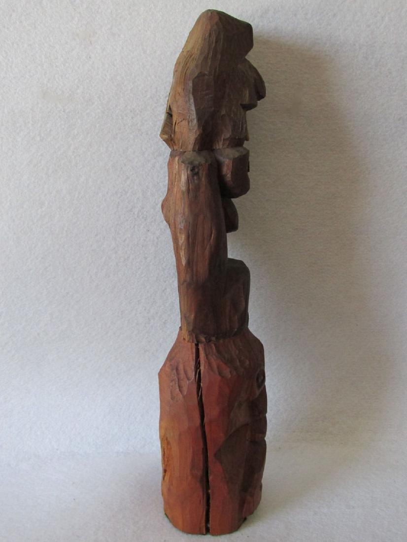 Vintage Hand carved Folk Art Totem Pole - 2