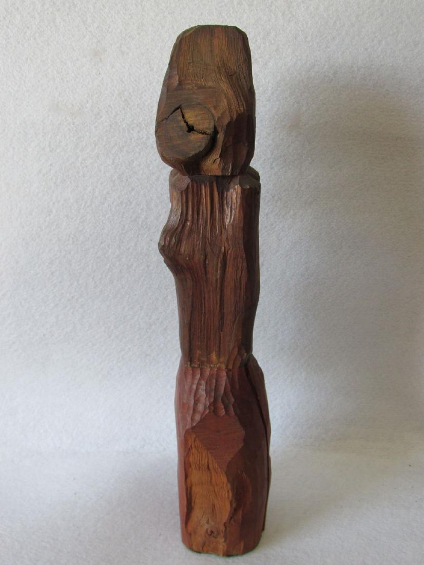 Vintage Hand carved Folk Art Totem Pole - 4