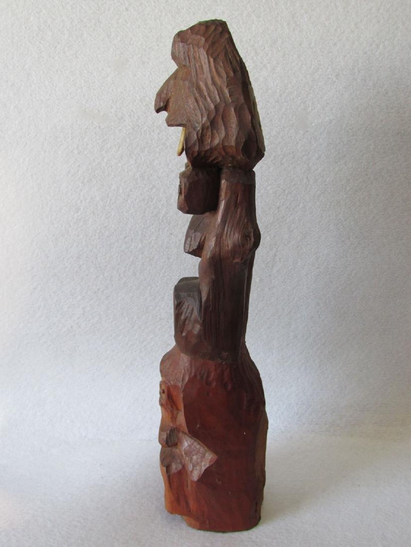 Vintage Hand carved Folk Art Totem Pole - 5