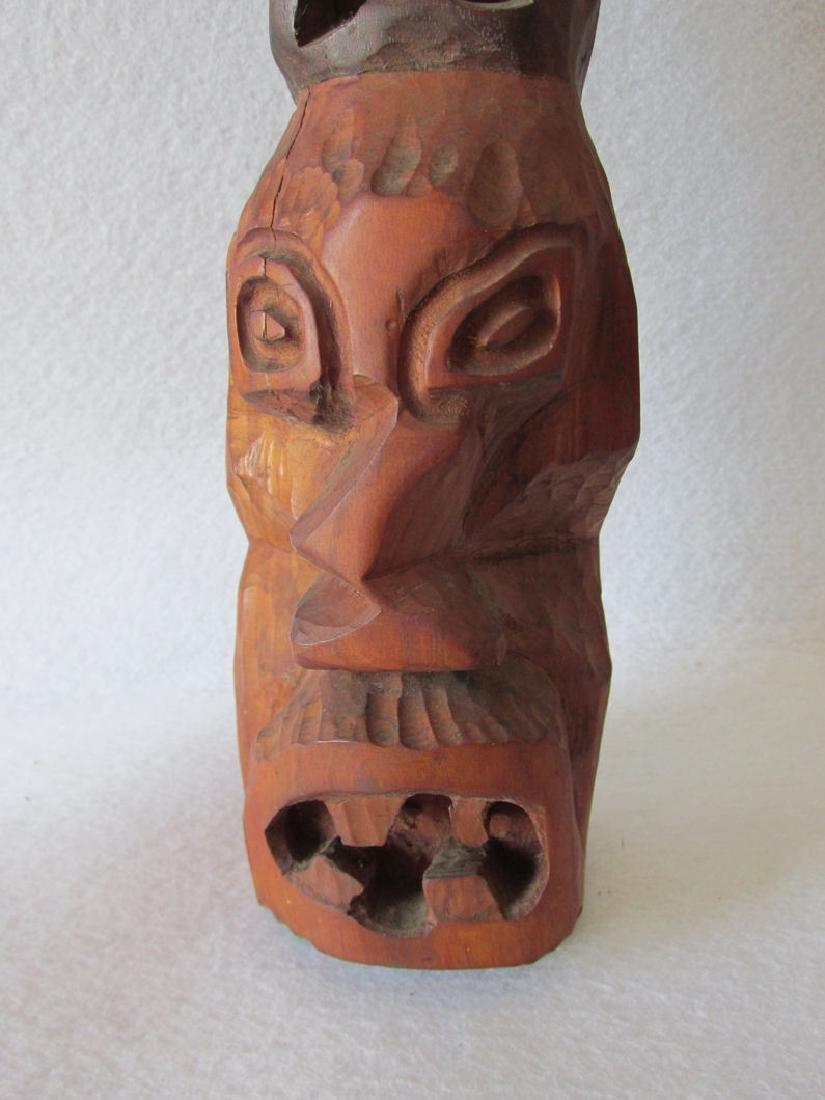 Vintage Hand carved Folk Art Totem Pole - 6